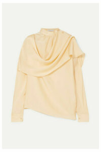 REJINA PYO - Ira Draped Silk-satin Blouse - Ivory