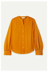 Vince - Stretch-silk Blouse - Orange