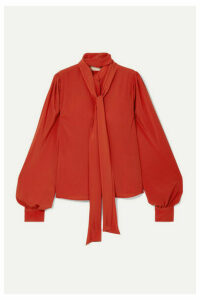 Antonio Berardi - Pussy-bow Crepe Blouse - Orange