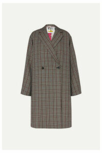 Stella McCartney - + The Beatles Oversized Prince Of Wales Checked Wool Coat - Black