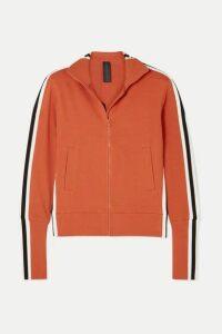 Norma Kamali - Striped Stretch-cotton Jersey Track Jacket - Red