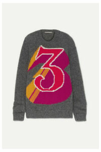 Stella McCartney - + The Beatles Intarsia Alpaca-blend Sweater - Gray
