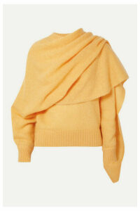 REJINA PYO - Colette Draped Mohair-blend Sweater - Yellow