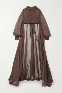 Antonio Berardi - Cropped Crepe Slim-leg Pants - Purple