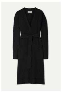 Jason Wu - Belted Merino Wool Cardigan - Midnight blue