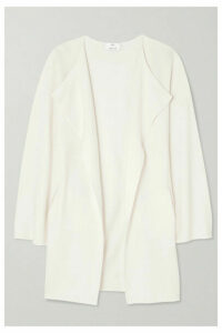 Allude - Draped Wool Cardigan - White