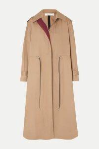 Victoria Beckham - Oversized Drawstring Cotton-blend Gabardine Trench Coat - Camel