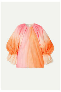 Roksanda - Nyra Gathered Crinkled-taffeta Top - Pink