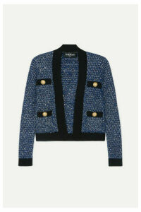 Balmain - Metallic Tweed Jacket - Blue