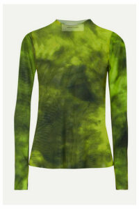 Marques' Almeida - Tie-dyed Stretch-mesh Top - Lime green