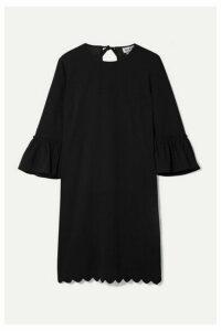 Paul & Joe - Coroline Scalloped Crepe Mini Dress - Black