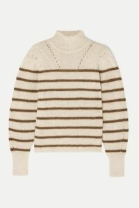 Isabel Marant Étoile - Georgia Striped High-neck Alpaca-blend Sweater - Ecru
