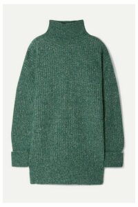Vanessa Bruno - Mia Mélange Ribbed-knit Turtleneck Sweater - Emerald