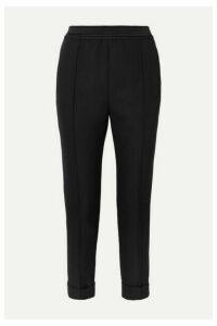 Haider Ackermann - Satin-trimmed Fleece Wool-crepe Tapered Pants - Black