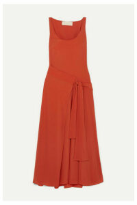 Antonio Berardi - Asymmetric Draped Crepe Wrap Dress - Orange