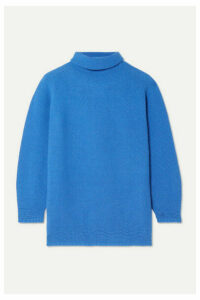 Max Mara - Wool And Cashmere-blend Turtleneck Sweater - Bright blue