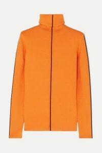 Victoria, Victoria Beckham - Ribbed-knit Turtleneck Sweater - Orange