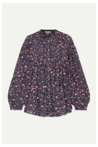 Isabel Marant Étoile - Laila Pintucked Floral-print Cotton Blouse - Purple
