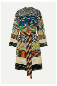 Missoni - Belted Chunky-knit Cardigan - Black