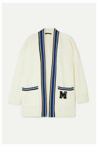 Maje - Millenium Oversized Appliquéd Knitted Cardigan - Ivory