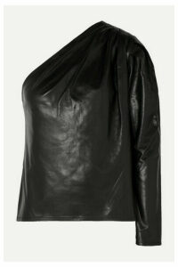 IRO - Molia One-sleeve Leather Top - Black