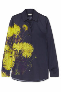 Dries Van Noten - Clavelly Floral-print Cotton-poplin Shirt - Dark gray