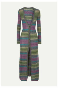 Jacquemus - La Robe Gilet Striped Mohair-blend Cardigan - Purple