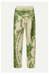 Moschino - Printed Satin-jersey Track Pants - Green