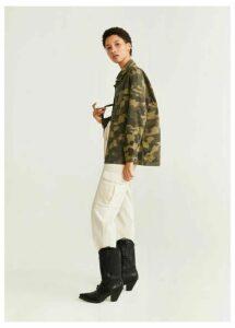 Camo-print jacket