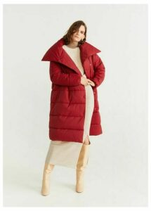 Quilted buttoned coat