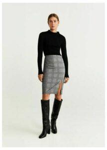 Opening pencil skirt