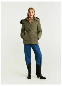 Detachable hood feather down coat