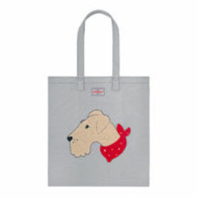 Dog Portraits Embroidered Cotton Bookbag
