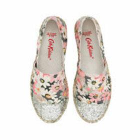 Mini Painted Daisy Glitter Espadrilles