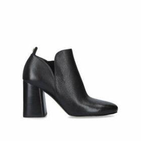 Michael Michael Kors Dixon Bootie - Black Block Heel Ankle Boots