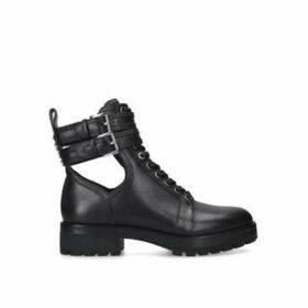 Michael Michael Kors Bensen Bootie - Black Lace Up Biker Boots