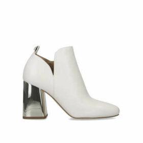 Michael Michael Kors Dixon Bootie - Cream Block Heel Ankle Boots