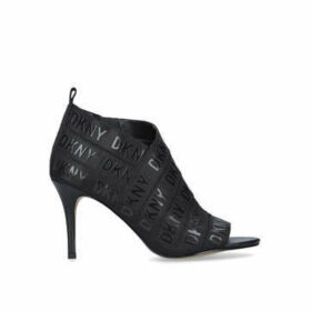 Dkny Issa - Black Stiletto Heel Open Toe Shoe Boots