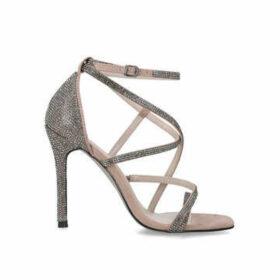 Carvela Ginger - Metallic Embellished Stiletto Heel Sandals