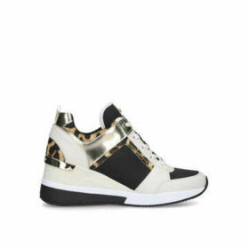 Michael Michael Kors Georgie Trainer - Leopard Print Lace Up Chunky Trainers