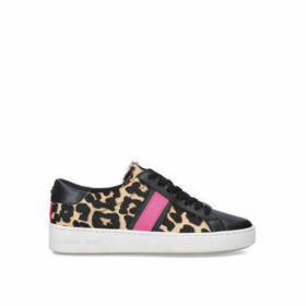 Michael Michael Kors Irving Stripe Lace Up - Leopard Print Lace Up Trainers