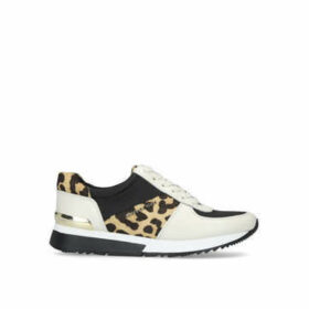 Michael Michael Kors Allie Trainer - White And Leopard Print Lace Up Trainers