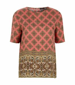 Silk Diamond Print Top