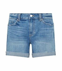 Distressed and Cuffed Parker Denim Shorts