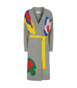 Abstract Belted Cardigan