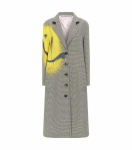 Wool-Blend Check Coat