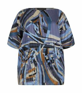 Abstract Print Tunic Top