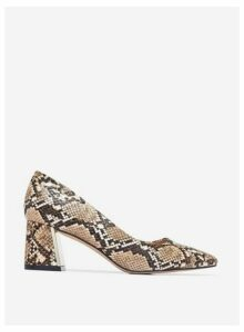 Womens Multi Colour Snake Print 'Daydream' Court Shoes- Animal, Animal