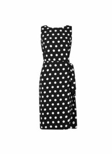 Womens Black Tie Side Pencil Dress- Black, Black