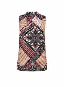 Womens Multi Colour Paisley Print Top- Multi Colour, Multi Colour